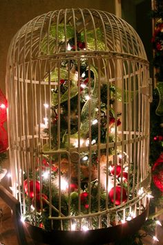 adventures of a busy bee christmas birdcage