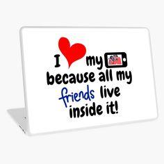 'Social Media friends' Laptop Skin by Home Study Rooms, Macbook Air 13, Laptop Skin, Vinyl Decals, Bubbles, Nerd, Social Media, Bedroom, Printed