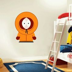 "South Park Kenny Cartoon Wall Decal Sticker 19""x 25"""