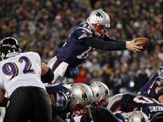 TD Tom Brady. Over the Top.