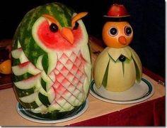 fun food art owl