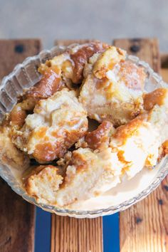 How could you say no to Cajun bread pudding, made with doughnuts and Jack Daniels, from Hawk's in Roberts Cove, Louisiana?