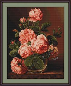 Embroidery and tapestry kits production Luca-S Cross Stitch kits, Tapestry (Petit Point) kits, Needleworks kits Cross Stitch Needles, Cross Stitch Rose, Cross Stitch Flowers, Cross Stitch Embroidery, Cross Stitch Patterns, Tapestry Kits, Vintage Cross Stitches, Cross Stitch Pictures, Cow Art