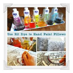 a bit of hot water and a dash of rit dye and you have some pretty great fabric to customize pillows or any other natural fiber fabric