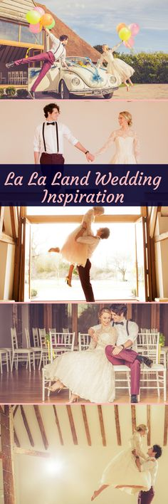 La La Land Wedding Inspiration - Swoon-Worthy Ideas for Movie Fans. This bride and groom have everything, colour, vintage, Hollywood glamour and romance in these beautiful photos!