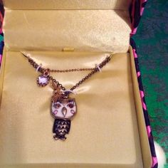 Betsey Johnson Jewelry - NIB owl necklace by Betsey Johnson!