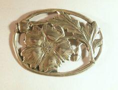 Art Nouveau Sterling Silver Brooch.