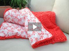 DIY Anleitung: Decke stricken // home diy: how to knit a blanket via DaWanda.com
