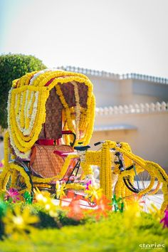 yellow flower decorated rickshaw - Google Search