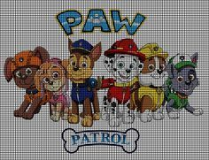 Paw Patrol Group Crochet Pattern