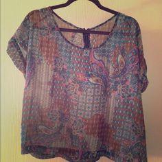 Paisley print shirt Size large. Paisley print. Tops Blouses