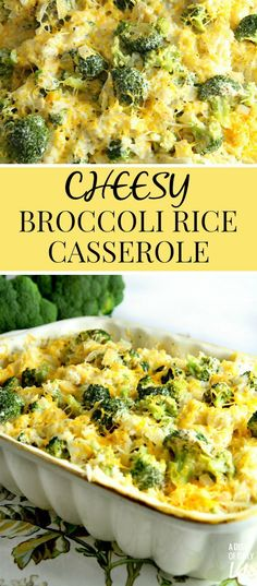 Cheesy Broccoli Rice Casserole...a warm and comforting casserole made from scratch using all natural cheeses!