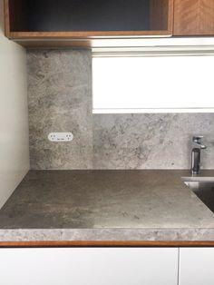 Splash Back Detail. ZETR double outlet with USB trimless in kitchen splash back. Interior Rendering, Minimalism, It Is Finished, Usb, Stone, Architecture, Detail, Kitchen, Design