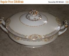 SUMMER SALE Exquisite Vintage Noritake Soup by HitOrMissTreasures