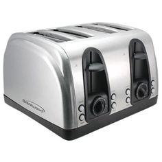 4-Slice Elegant Toaster with Brushed Stainless Steel Finish