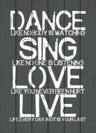 dance, sing love en live