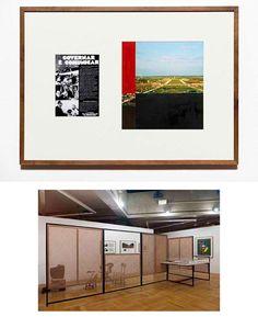 Detalhe de quadro e a instalação na Casa França-Brasil