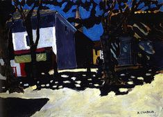 Auguste Chabaud, Square in a Town in Provence on ArtStack #auguste-chabaud #art