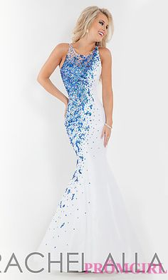 Long Beaded High Neck Mermaid Gown by Rachel Allan at http://thepageantplanet.com/category/pageant-wardrobe/ this is the dress to match her cake !