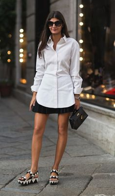 Play around with different lengths - pair a longer shirt with a skirt for an easy summer look.  Shop and be inspired here: http://rstyle.me/n/q7wmabgbrf