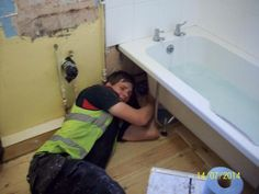 Rugby County Council apprentice John Davis gets into tight spots to fix tenants problems John Davis, Your Image, Rugby, Campaign, Football