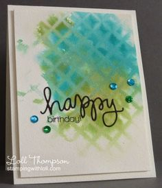 Stamping with Loll: watercoloring