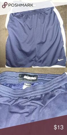 Nike athletic basketball shorts Blue Nike basketball shorts. Perfect condition still has tie strings in place. Nike Shorts Athletic
