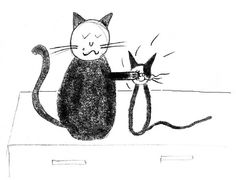 Illustrations from the inside of the book, The Tails of Patch and Purrr. This Is A Book, Crazy Cats, My Books, Patches, Old Things, Illustrations, Fictional Characters, Art, Art Background