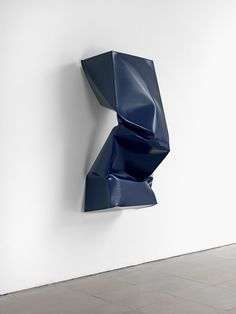 Compressed (Blue) 2011, Angela-de-la-Cruz: blue sculpture