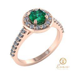 Inel din aur roz cu smarald si diamante ES72 Bracelet Watch, Watches, Bracelets, Accessories, Jewelry, Wrist Watches, Bangle Bracelets, Jewellery Making, Jewerly