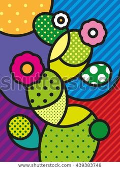 Pop Art Modern Vector Illustration Cactus for your design - buy this vector on Shutterstock & find other images. Cactus Painting, Cactus Art, Diy Painting, Cactus Plants, Cactus Decor, Moda Pop Art, Illustration Cactus, Pop Art Fashion, Diy Fashion