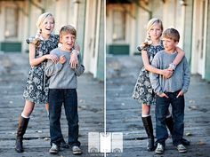 Love the pose on the right with the kids...cute for sibblings