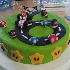 Dim Sum & Tartiflette: Gâteau Mario Kart en damier et pâte à sucre