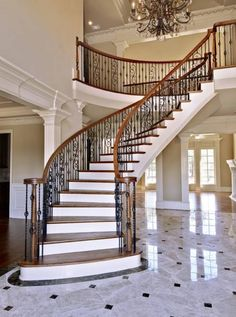 Exceptional Luxury Stairs | Luxury Curved Staircase Charming Interior Staircase Design