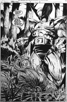 Some early Todd McFarlane work for you guys. Comic Book Artists, Comic Artist, Comic Books Art, Marvel Art, Marvel Dc Comics, Wolverine Comics, Old Man Wolverine, Famous Superheroes, Iron Man Drawing