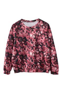 ROMWE | Floral Print Short Sweatshirt, The Latest Street Fashion