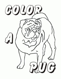 Image Result For Pug Coloring Pages To Print