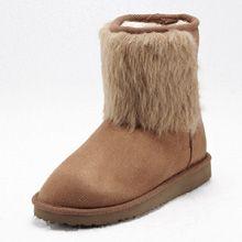 Stylis Fur Trim Snow Boots