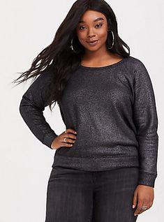 15c8b8b1dba Black Metallic Sweatshirt