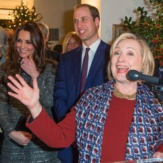 Pin for Later: Prince William and Kate Middleton May Have Made Hillary Clinton's Night