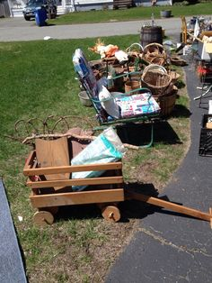 Such a cute wagon I'm selling! Asking $25 or BO! You have to have it for your garden!