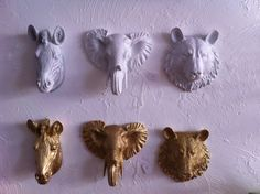 Miniature faux taxidermy gallery wall