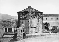 The clock of Andronikos Kyrristos Petros Moraitis 1865 Mount Rushmore, Clock, Mountains, Artwork, Nature, Travel, Watch, Work Of Art, Naturaleza