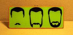 Facial Hair Progression - ( Highlighter Green ) - Wallet - Billfold. $10.00, via Etsy.
