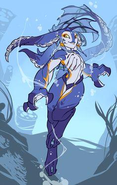 Octogirl by Zummeng on DeviantArt - Frauen Haar Modelle Dnd Characters, Fantasy Characters, Character Concept, Character Art, Alien Concept Art, Hawaiian Art, Avatar, Merfolk, Animal Ears