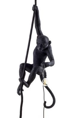 Monkey Hanging Pendant - Outdoor / H 80 cm Black by Seletti - Design furniture and decoration with Made in Design