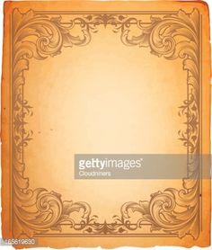 Vector Art : Scroll Frame Parchment