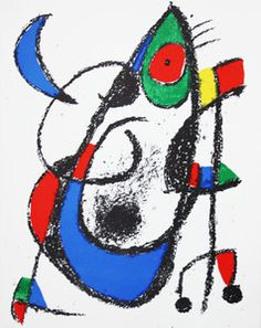 #Joan MIRO (1893-1983) #Original Lithograph XI - Multiple Print, #Lithograph (Number and / or edition: numbered on the back (No. 248).),       32x25 cm (12.6x9.84 in), Abstract     This is a lithograph on cardboard, which appears in the catalog referenced Jacques Dupin and numbered on the back (No. 248).