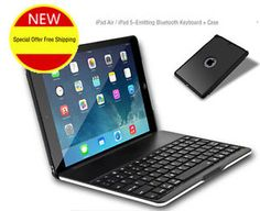 Cheap Best Apple Black Silver iPad Air Keyboard iPad Air Cover Keyboard IPK02