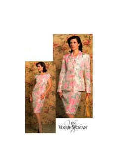 04 The Vogue Woman 7849 Mother of the Bride, Special Occasion, Formal Lined Jacket & Dress, Uncut, Factory Folded, Sewing Pattern Size 8-12 Jacket Dress, Peplum Dress, Princess Seam, Mother Of The Bride, Special Occasion, Sewing Patterns, Vogue, Weddings, Woman